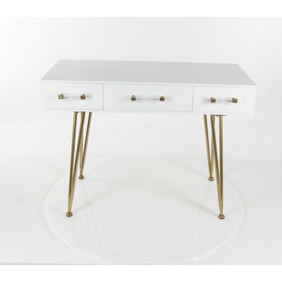 Merritt Wood Metal Console Table