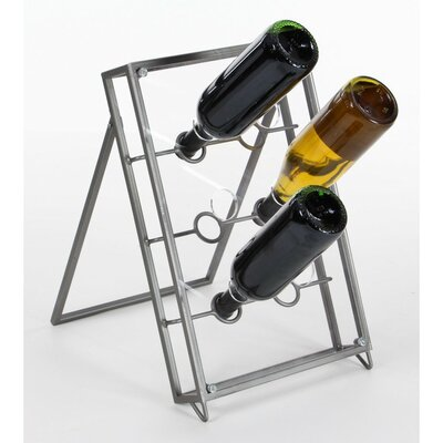 Miranda Tabletop Wine Bottle Rack Finish: Natural Iron