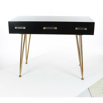 Gower Sophisticated Wood Metal Console Table