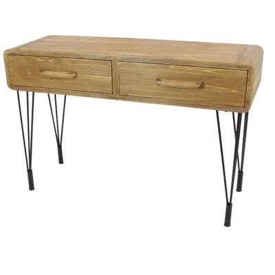Loren Wood Metal Console Table