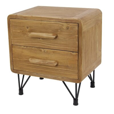 Kala 2 Drawer End Table