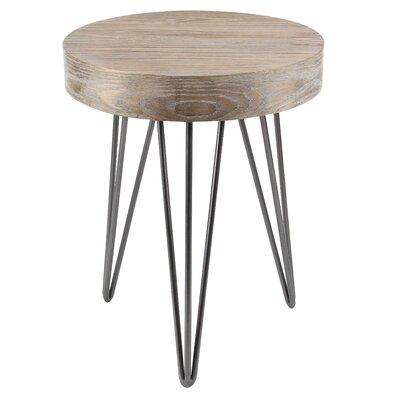 Douglas Metal Wood End Table