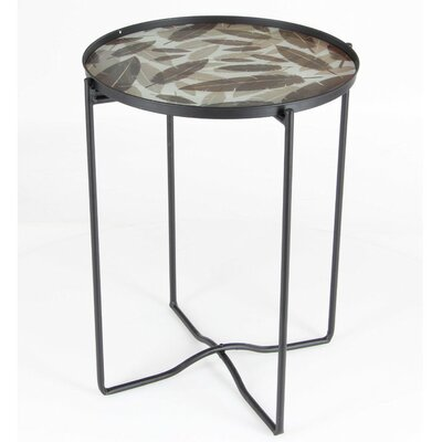 Marique Iron Glass End Table
