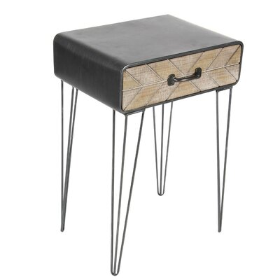 Dalrymple Metal/Wood End Table