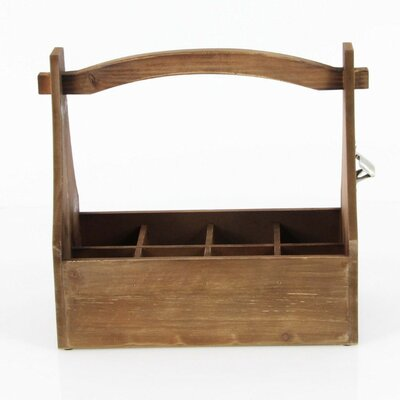 Cassandra Wooden Crate 6 Bottle Hanging Wine Bottle Rack