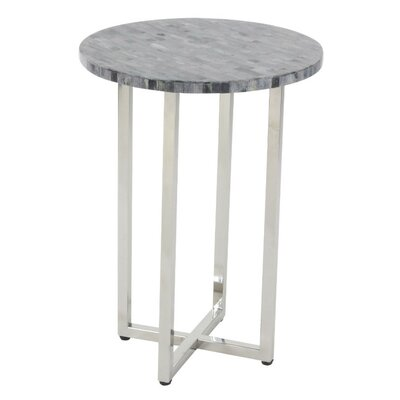 Jaime Stainless Steel End Table Finish: Gray