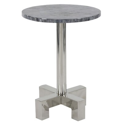 Jaime Stainless Steel End Table Color: Gray