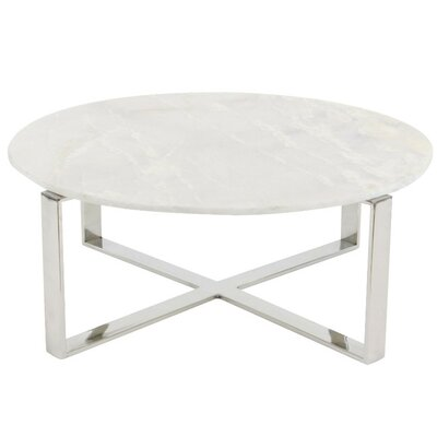 Balke Cross Design Marble Coffee Table