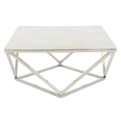 Critchfield Marble Top Square Coffee Table