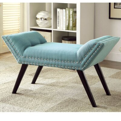 Palladio Upholstered Entryway Bench Upholstery: Blue