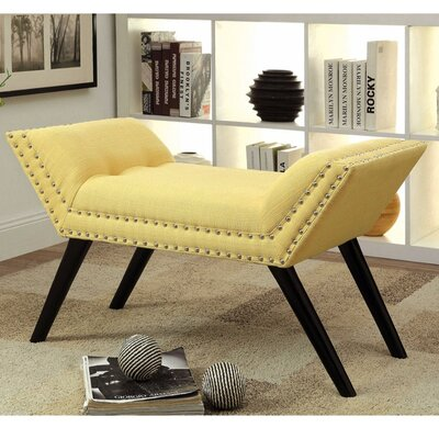 Palladio Upholstered Entryway Bench Upholstery: Yellow
