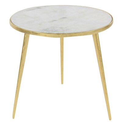 Dilip Marble End Table Color: Gold