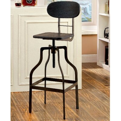Montour Industrial 37.75 Swivel Bar Stool Finish: Black