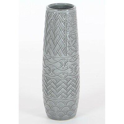 Bungalow Rose Silver Ceramic Table Vase