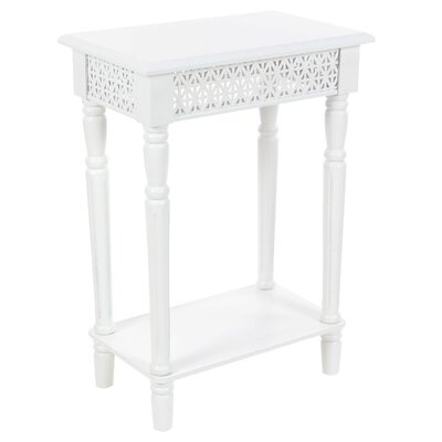 Celie Wooden End Table Finish: White