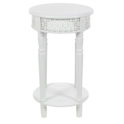 Celie Traditional Wooden End Table Finish: White
