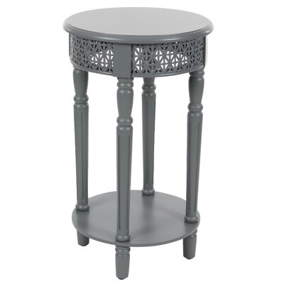 Celie Traditional Wooden End Table Finish: Gray