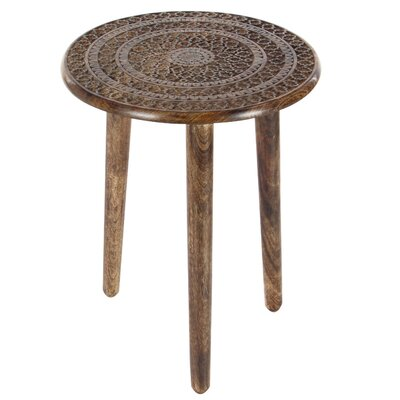Dracut Tripod End Table Color: Dark Brown