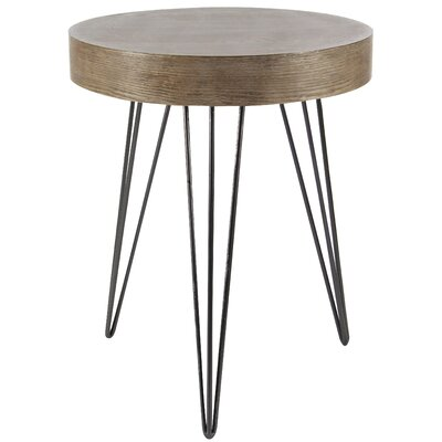 Kori Metal Wood End Table