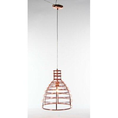 Shane 1-Light Mini Pendant Size: 18 H x 13 W x 13 D, Finish: Copper