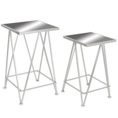 Kelly 2 Piece Classy Metal Nesting Tables