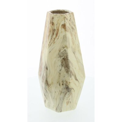 Mccrae Light Brown Marble Table Vase