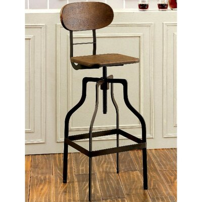 Renfrow Industrial 37.75 Swivel Bar Stool Finish: Brown