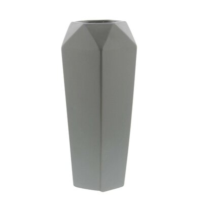 Light Gray Ceramic Table Vase