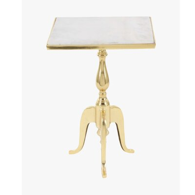 Henderson Iron Marble End Table