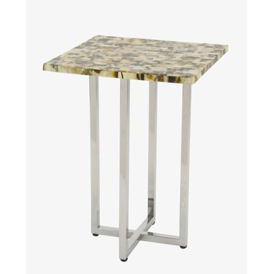 Damiansville Stainless Steel Inlay End Table