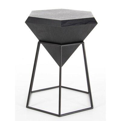 Davidson Diamond Shaped End Table Finish: Black