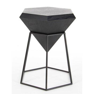 Davidson Diamond Shaped End Table Finish: Black
