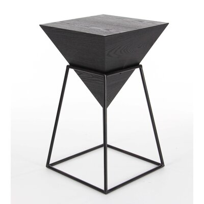 Crothersville Square Shaped End Table Finish: Black