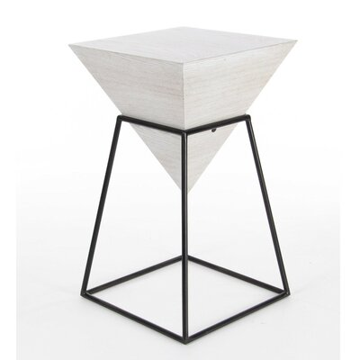 Bullins Square Shaped End Table Finish: White