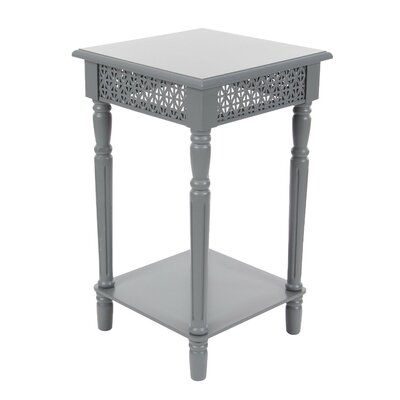 Makeda Wood End Table Color: Gray