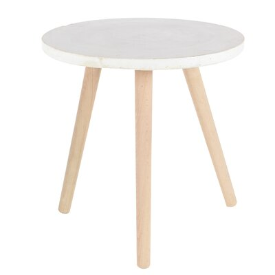 Cioffi End Table Top Finish: White