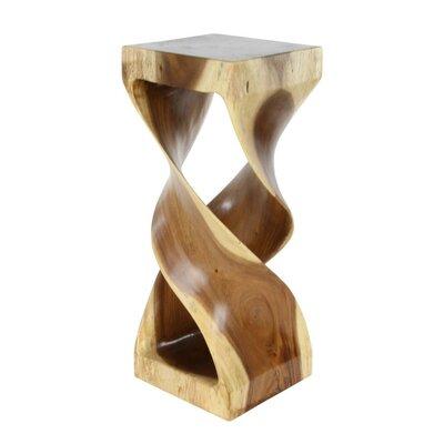 Bailey Hourglass Shaped Wood End Table