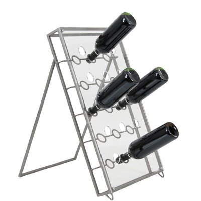 Crawford Metal Acrylic 30 Bottle Floor Wine Bottle Rack Finish: Gray