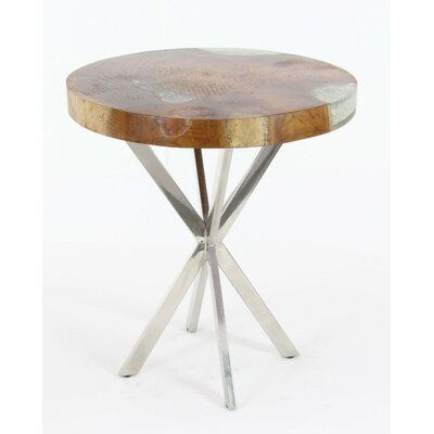 Cortaro Teak Stainless Steel End Table