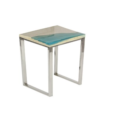 Lyerly Beach Square End Table Color: Blue