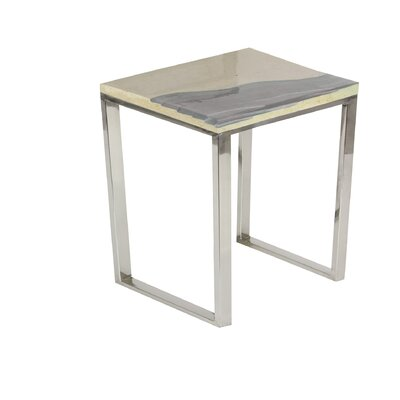 Lyerly Beach Square End Table Color: Gray