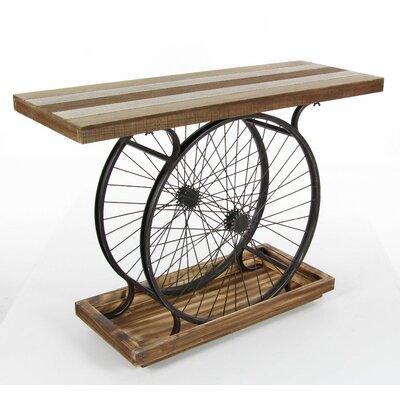 Rafael Decorative Metal Wheel Console Table