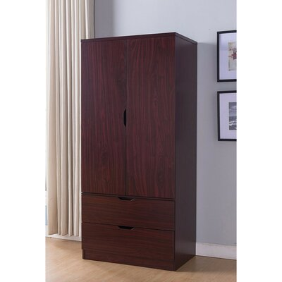 Bourland Spacious Armoire Color: Cherry Brown