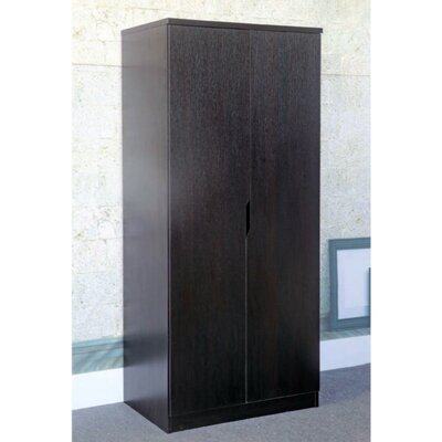 Cipriano Sophisticated 2 Magnet Closing Door Wardrobe Armoire Color: Dark Brown