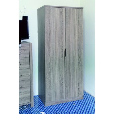 Cipriano Sophisticated 2 Magnet Closing Door Wardrobe Armoire Color: Brown