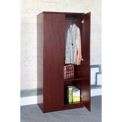 Cipriano Sophisticated 2 Magnet Closing Door Wardrobe Armoire Color: Cherry Brown