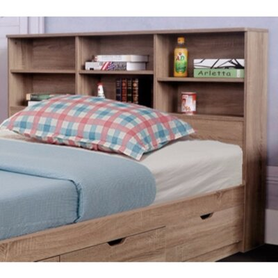 Dockery Elegant Bookcase Headboard with 6 Shelves Size: Full