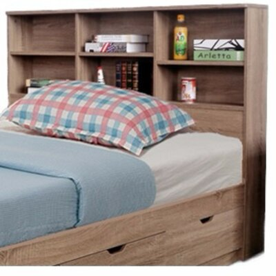 Dockery Elegant Bookcase Headboard with 6 Shelves Size: Twin
