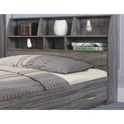 Doering Elegant Bookcase Headboard with 6 Shelves Size: Full