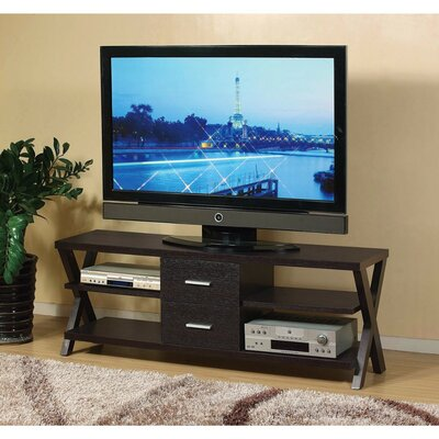 Dolezal 60 TV Stand with Metal Glide Drawers and Cross Base